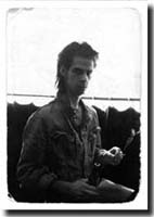 "Nick Cave, Berlin, 1986, Blixa had asked me, if I´d like to have Nick in the film - ofcourse!! Next day at ""Ax-Bax"" he had to repeat a filmtitle by Vlado Kristl;.""Tod Dem  Zuschauer""(""Death to the Spectator"")in german, to do so he wrote down: ""Tott daim sooshower"""